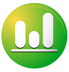 Icon with bar graph bar chart symbol vector