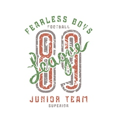 Junior football team emblem in retro style vector image