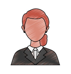 Lawyer woman doodle vector