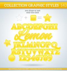 Lemon Graphic Style for Design vector