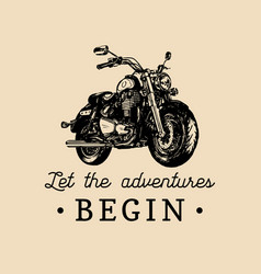Let the adventures begin inspirational poster vector