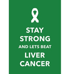 liver cancer poster vector image