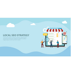 Local seo market strategy business search engine vector