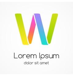 Logo letter W company design template vector image