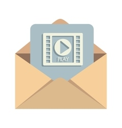 message mail media open vector image