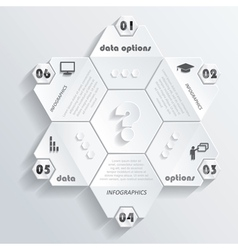 Modern infographics design with numbers vector image