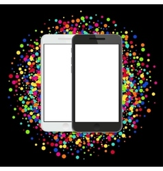modern smartphone on colorful abstract vector image
