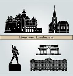 montreux landmarks vector image