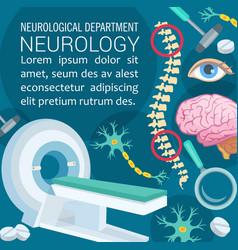 Neurology disease diagnostic clinic poster design vector