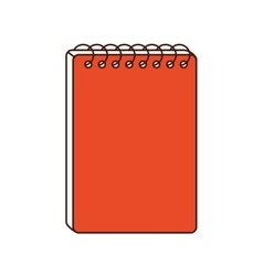notebook class school instrument icon vector image