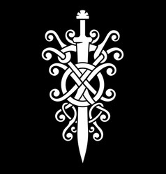 Old norse viking design the sword viking vector