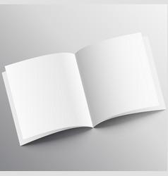 Open book mockup design template vector