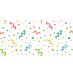 pattern with confetti vector image
