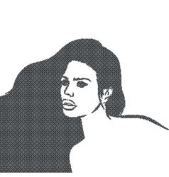 Pixelate Mosaic Black Girl Face vector