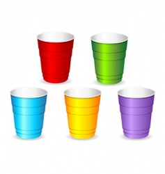 Plastic party cup set vector