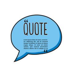 quote talk logo vector image
