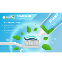 Realistic detailed 3d whitening toothpaste and vector