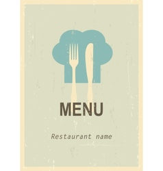 Retro menu cover vector image