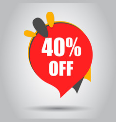 Sale 40 off discount price tag icon business vector