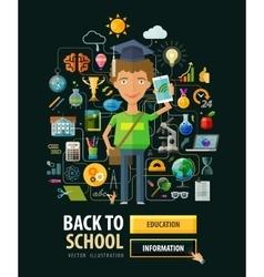 School logo design template education vector