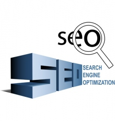 seo search engine vector image