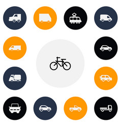 set of 13 editable transport icons includes vector image