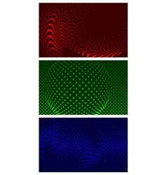 Set of 3 abstract backgrounds vector image
