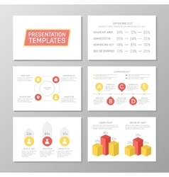 Set of orange and red template for multipurpose vector