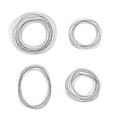 set of sketchy scribble line circle frames vector image