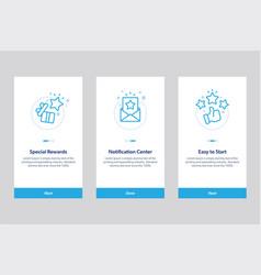 set onboarding app screens vector image