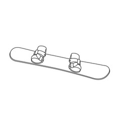 Snowboardextreme sport single icon in outline vector
