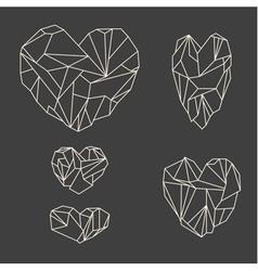 Stone hearts vector