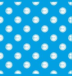 sun pattern seamless blue vector image
