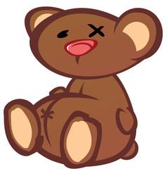 teddy bear cartoon character vector image