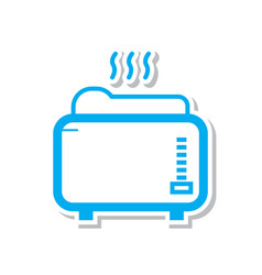 Thin line toaster icon vector
