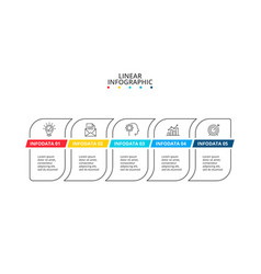 thin lines with color stripes infographic vector image