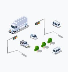 urban isometric parking vector image