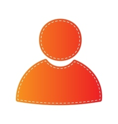 User sign Orange applique isolated vector image