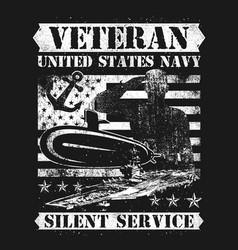 Veteran us navy silence service vector