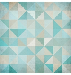 Vintage blue triangular background vector image