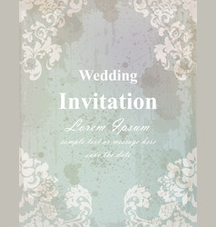 vintage wedding invitation card baroque royal vector image