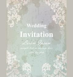 Vintage wedding invitation card baroque royal vector