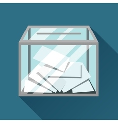 Voting papers in ballot box political elections vector