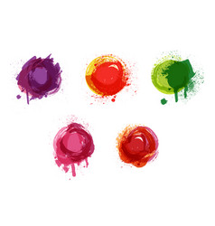Watercolor background splashes vector