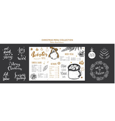 winter special seasonal menu chalkboard vector image