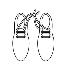 April fool shoelaces tied image thin line vector