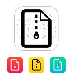 Archive file icon vector image vector image