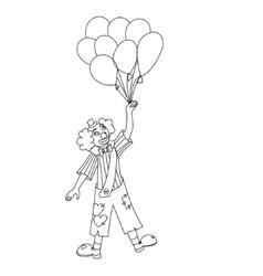 Hand drawn clown vector image