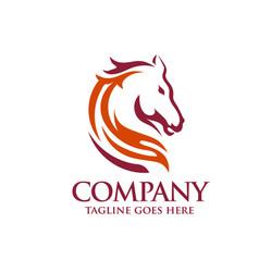 Head horse logo template vector