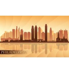 Philadelphia city skyline detailed silhouette vector image